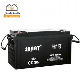 باتری 12 ولت 120 آمپر صنعت(Sanat)