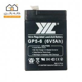 باتری سیلد اسید 6 ولت 5 آمپر جی وای سی JYC