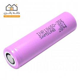 باتری لیتیوم آیون 18650 شارژی 3.7 ولت 3400 میلی آمپرسامسونگ(samsung)
