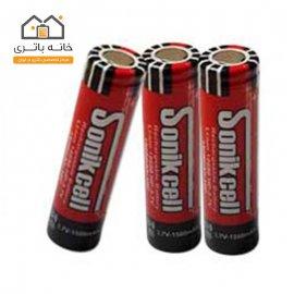 باتری لیتیوم آیون 3.7 ولت 18650-1500میلی آمپر-HP سونیک سل(sonikcell)