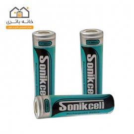 باتری لیتیومآیون 18650-3.7 ولت 2600 میلیآمپر سونیک سل(sonikcell)
