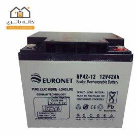 باتری خشک 12 ولت 42 آمپر یورونت (euronet)