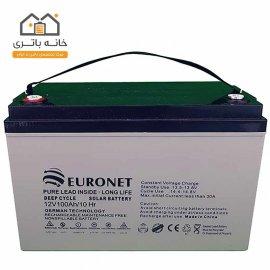 باتری خشک 12 ولت 100 آمپر یورونت (euronet)