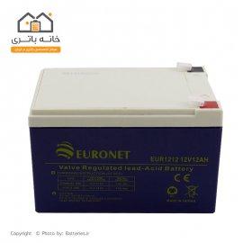 باتری خشک 12 ولت 12 آمپر یورونت (euronet)