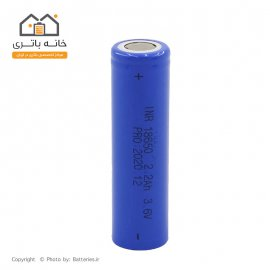 باتری لیتیوم 18650 شارژی 3.7 ولت 2200 میلی آمپر INR