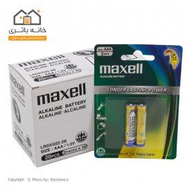 باتری نیم قلمی آلکالاین مکسل بسته ای (10 ورق - 20 عدد)
