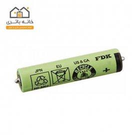 باتری ریش تراش نیم قلمی FDK شارژی 1.2 ولت 800 میلی آمپر نیکل متال