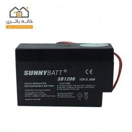 باتری شارژی سیلداسید 12 ولت 0.8 آمپر سانی بت SunnyBatt
