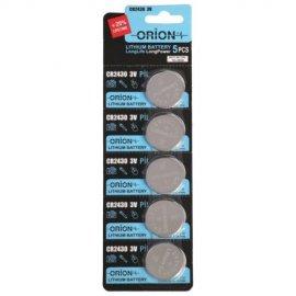 باتری سکه ای اوریون 3 ولت CR2430 کارتی 5 عددی