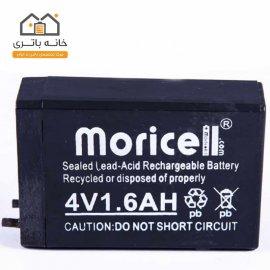 باتری خشک 4 ولت 1600میلی آمپر موریسل