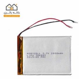 باتری لیتیوم پلیمر 3/7ولت 2800 میلی آمپر{386882)