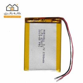 باتری لیتیوم پلیمر3/7ولت2300میلی آمپر(475075)