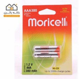باتری نیم قلمی شارژی 380 میلی آمپر موریسل