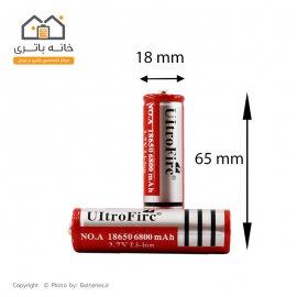 باتری لیتیوم آیون 18650 شارژی 3.7 ولت 4200 میلی آمپر اولترافایر - Ultra Fire