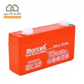 باطری سیلد اسید 6 ولت 1.2 آمپر - Moricell