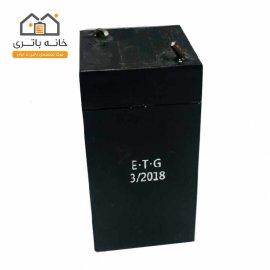 باتری اسپیکر شارژی ETG 6 ولت 900 میلی آمپر ساعت