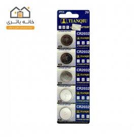 باتری سکه ای تیانکیو 2032 لیتیوم 5 عددی