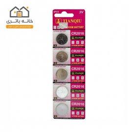 باتری سکه ای 2016 تیانکیو لیتیوم 5 عددی