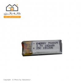 باتری لیتیوم پلیمر 3.7 ولت 180 میلی آمپر ساعت انرژی (702025) 25C