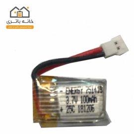 باتری لیتیوم پلیمر 3.7 ولت 100 میلی آمپر ساعت انرژی (751419) 25C
