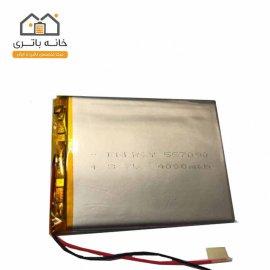باتری لیتیوم پلیمر 3.7 ولت 4000 میلی آمپر ساعت انرژی (557090)