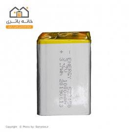 باتری لیتیوم پلیمر 3/7 ولت 1000 میلی آمپر ساعت انرژی (523450)