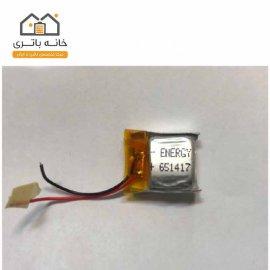 باتری لیتیوم پلیمر 3.7 ولت انرژی 65 میلی آمپر(651417)
