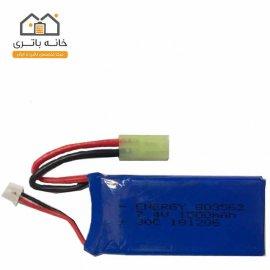 باتری لیتیوم پلیمر شارژی 7.4 ولت 1500 میلی آمپر ساعت انرژی (803562) 30C