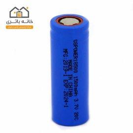 باتری لیتیوم آیون 18500 شارژی 3/7 ولت 1500 میلی آمپر 20c جی اس پاور