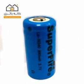 باتری لیتیوم آیون 16340 شارژی 3.7 ولت 880 میلی آمپر