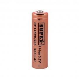 باتری قلمی 14500 لیتیوم شارژی 3.7 ولت 900 میلی ساپکس SUPEX
