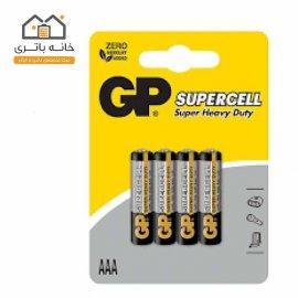 باتری نیم قلم معمولی 4 عددی جی پی GP