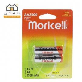باتری قلمی شارژی 2500 میلی آمپر موریسل MORICELL