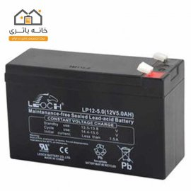 باتری خشک 12 ولت 5 آمپر ساعت لئوچ(leoch)