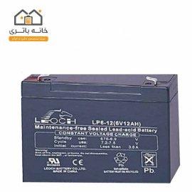 باتری خشک 6 ولت 12 آمپر ساعت لئوچ