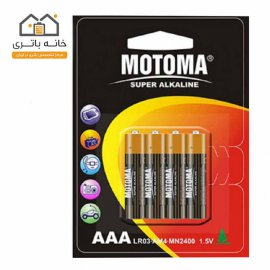 باتری نیم قلمی سوپر آلکالاین 4 عددی موتوما مدل LR03