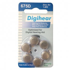 hearing aids digihear battery ZA675