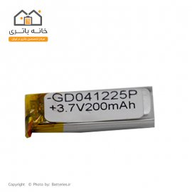 باتری لیتیوم پلیمر شارژی 3.7 ولت 200 میلی آمپر سایز 041225 مدل GD041225P