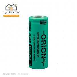 باتری لیتیوم آیون 18500 شارژی 3/7 ولت 1500 میلی آمپر 20c اوریون