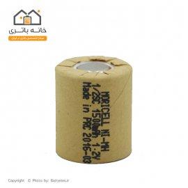 باطری شارژی 1/2SC نیکل متال 1500 میلی آمپر 1.2 ولت موریسل moricell
