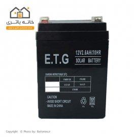 باتری سیلد اسید 12 ولت 2.6 آمپر ای تی جی ETG
