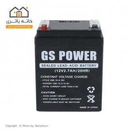 باتری سیلد اسید 12 ولت 2.7 آمپر جی اس پاور GS Power
