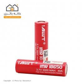 باتری  لیتیوم 18650 3.7 ولت شارژی 3000 میلی آمپر آی ام آر - IMR