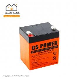 باتری سیلد اسید 12 ولت 4.5 آمپر جی اس پاور
