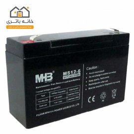 باتری خشک 6 ولت 10 آمپر ام اچ بی MHB