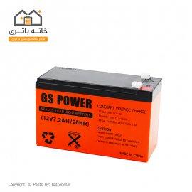 باتری  12 ولت 7.2 آمپر جی اس پاور - GS Power