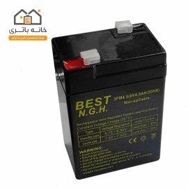 باتری سیلد اسید 6 ولت 4.5 آمپر بست