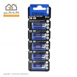 باتری 12 ولت A27 آلکالاین اوریون 5 عددی (orion)
