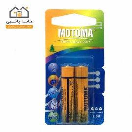 باتری نیم قلمی معمولی موتوما motoma کارتی
